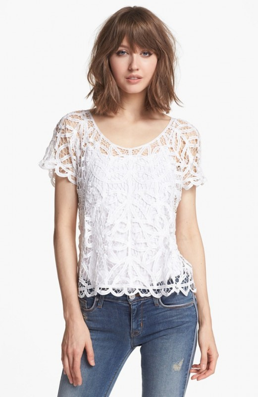 White Lace Top (Hinge)