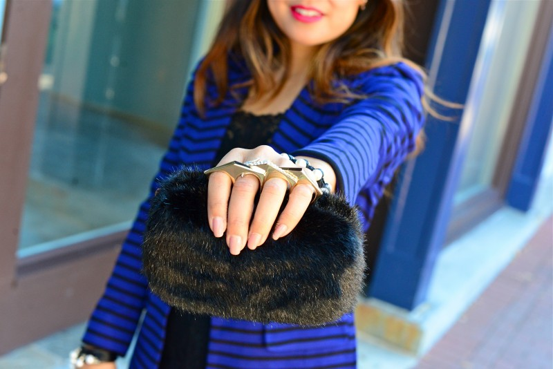 Fur knuckle clutch