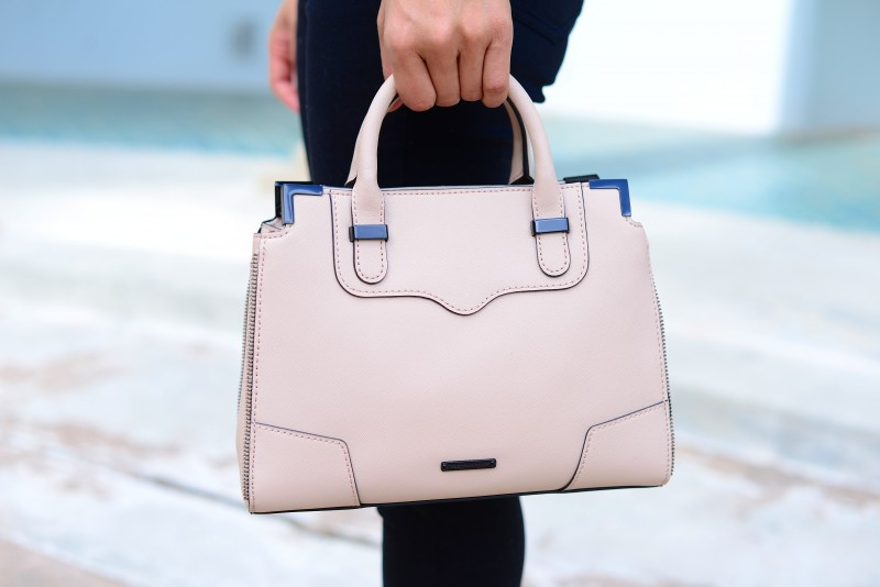 Pale pink satchel