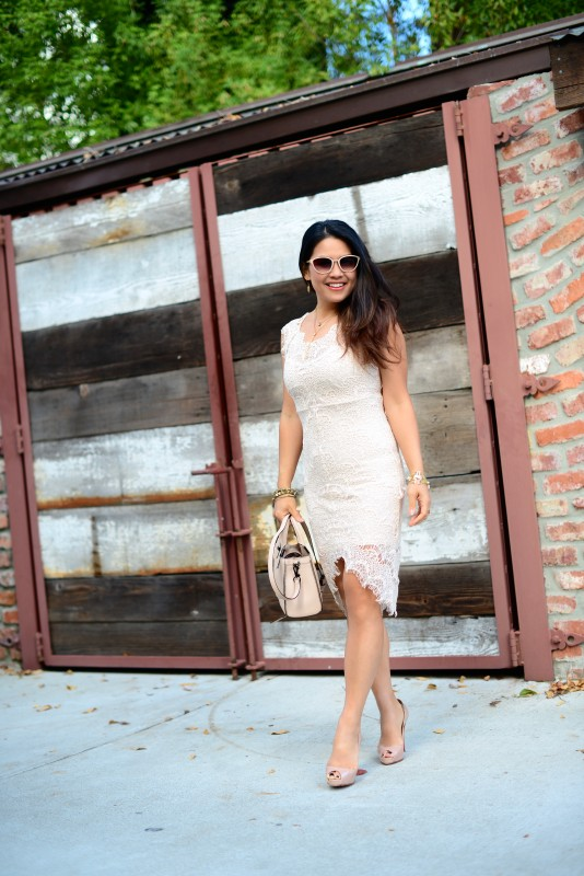 Free people sheath lace dress cream
