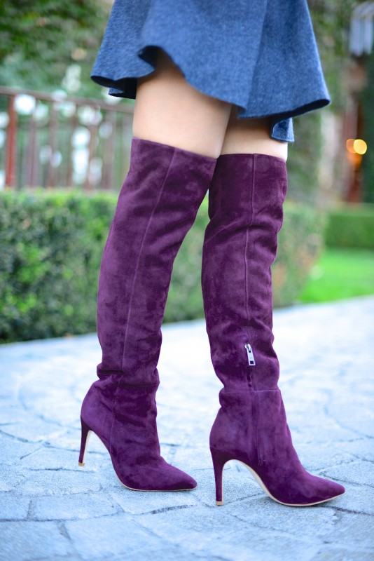 Joie olivia suede burgundy over the knee boots